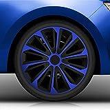 Autoteppich Stylers 16' 16 Zoll Radkappen/Radzierblenden vom RADKAPPEN KÖNIG 006 (Farbe Schwarz-Blau), passend für Fast alle Fahrzeugtypen (universal)