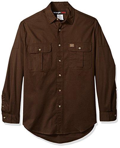 Wrangler Riggs Workwear Herren Riggs Workwear Tall Work Shirt Hemd, olivgrün, XX-Large Hoch