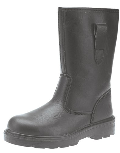 Grafters Safety Rigger Boots BLACK Leather size 10 UK