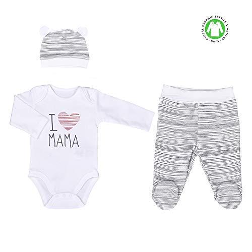 Sevira Kids - Ensemble vêtements Bébé 3 pièces - I love Mama