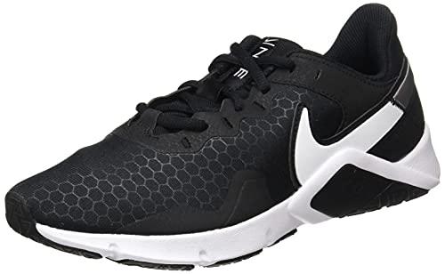 Nike Legend Essential 2, Zapatillas Hombre, Black/White-Metallic Silver, 44 EU