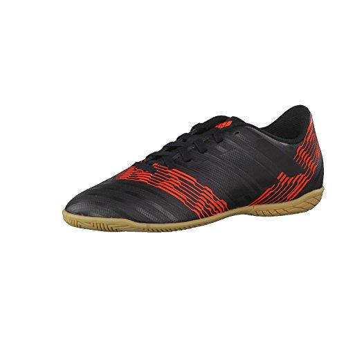 Adidas Nemeziz Tango 17.4 In J, Zapatillas de fútbol Sala Unisex Adulto, Negro (Negbas/Negbas/Rojsol 000), 36 2/3 EU