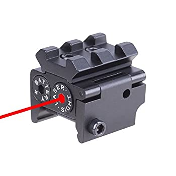Pinty Red Laser Red Dot Sight Waterproof Military Grade Low Profile Compact with Rail Mount and Accessory