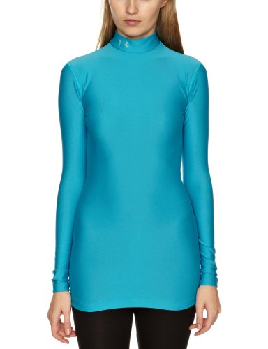 Under Armour CG Compression Mock Camicia da donna, donna, nero, XS