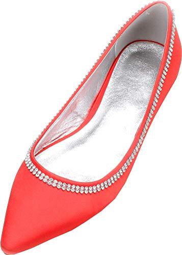 Zapatos Planos de Ballet para Mujer, con Punta en Punta, para Bodas,...
