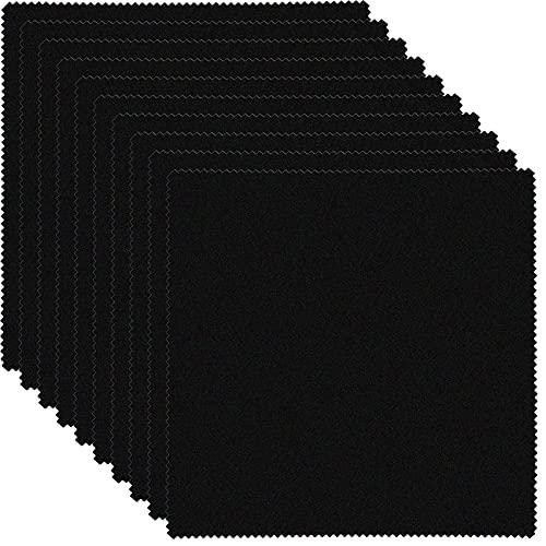 10 Stück Brillenputztuch Microfasertuch für Kamera Objektiv Fusselfreie Brillenputztücher In Optikerqualität für Display, Bildschirm, Laptop (20 x 20 cm, Schwarz)