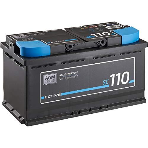 ECTIVE 12V 110Ah zyklenfester AGM Blei-Akku Versorgungsbatterie VRLA Semi Cycle SC110 wartungsfrei