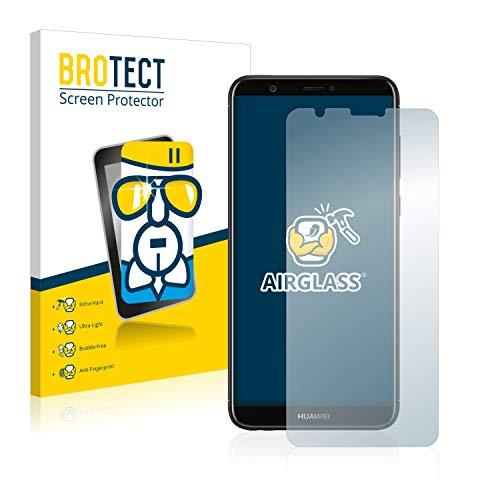 BROTECT Panzerglas Schutzfolie kompatibel mit Huawei P smart 2018 - AirGlass, 9H Festigkeit, Anti-Fingerprint, HD-Clear