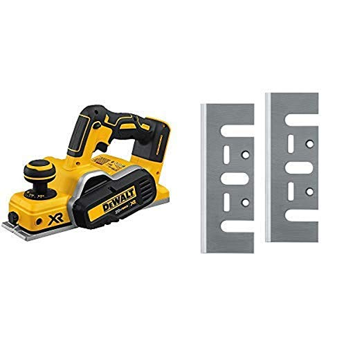 DEWALT DCP580B 20V MAX Brushless Planer (Tool Only) with DEWALT DW6655 High Speed Steel Blades
