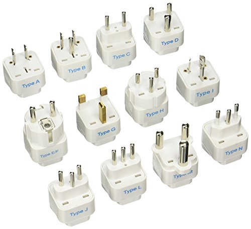 Ceptics 12Pcs International Travel Worldwide Grounded Universal Plug Adapter Set - Charge Your Devices from Anywhere in...