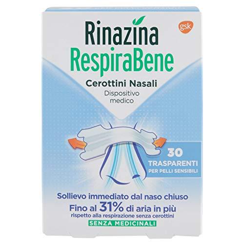 Rinazina Respirabene Cerottini Nasali 30 Trasparenti - 38 g