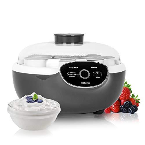Duronic YM2 Joghurtbereiter (Generalüberholt) | Joghurtzubereiter Joghurt-Maker | Joghurtmaschine | 8 Joghurt-to-go-Bechern / 20 Watt | selbstgemachter Joghurt ohne künstliche Zusätze | schwarz
