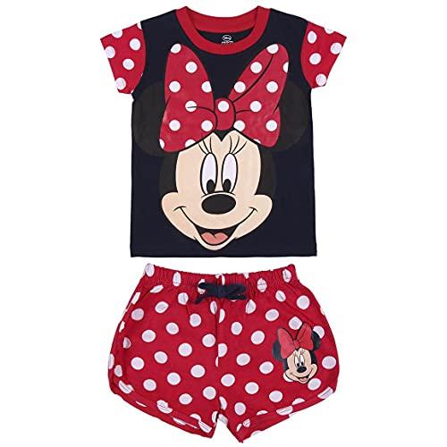 CERDÁ LIFES LITTLE MOMENTS Bambina Corto Pigiama Minnie, Colore Rosso-Licenza Ufficiale Disney, Rojo, 4 Anni
