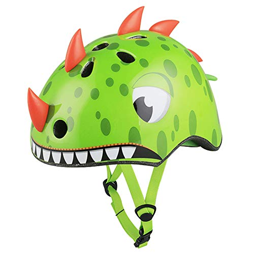 Kids Bike Helmet,Lovely Green Dinosaur Kids Helmet Have CPSC Certified Ages 2-5 Years Old Boys Girls Sports Helmet for Balance car, trikes, Scooters, Bike and Other Outdoor Sports