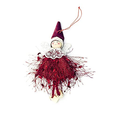 Décoration de sapin de Noël en forme d'ange doux pour lit, escalier, cheminée, mur, vacances, fête, jardin