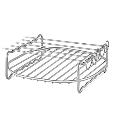 3hproducts Airfryer Double Layer Rack Accessory with 5 Skewers, for XL Airfryers
