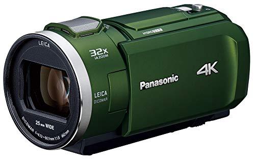 パナソニック 4K ビデオカメラ VX2M 64GB 光学24倍ズーム フォレストカーキ HC-VX2M-G
