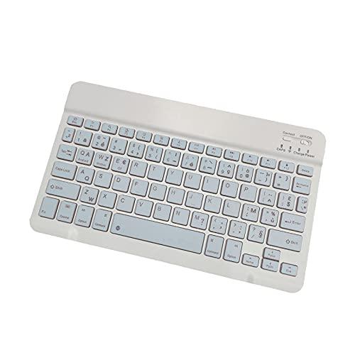 Universal Wireless Bluetooth Keyboard, Ultra Slim 9.7 inch Wireless Keyboard for Apple iPad Air, iPad 4 3 2, iPad Mini 4, iPhone, Comfortable Keys & 200Hours Long Battery Life (Blue)