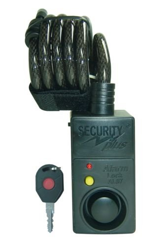 Security Plus spiraal-alarmslot, zwart