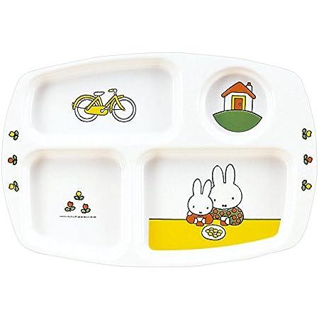 関東プラスチック工業  お子様食器 ミッフィー 角ランチ皿 長さ28cm  CM-20C メラミン   RLVF001