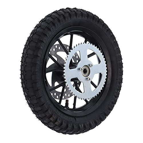 Aramox Rueda trasera, 12.5 x 2.75in Antideslizante Caucho Metal Rueda trasera Reemplazo de neumático para Coolster 49cc 2 Tiempos Mini Dirt Bike QG-50