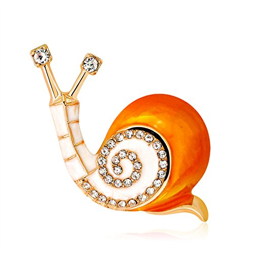 Skyeye Crystal Snail Brooch Pin,Colorful & Sparkly Broaches,Great Xmas Stocking Fillers & Table Gifts for Women Girls