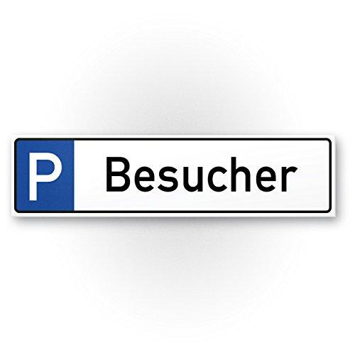 Parkplatz Besucher Kunststoff Schild (40 x 10cm), Hinweisschild Besucherparkplatz| Parkplatzschild Reserviert Gäste - Parkplatz freihalten, vermietet, Parkverbot Falschparker