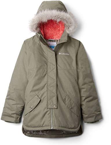 Columbia Sportswear Mädchen Carson Pass Mid Jacke Hardshelljacke, Cypress Heather, XS