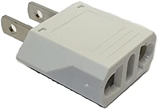 Ckitze Flat White Europe/Asia to USA & Canada Travel Power Plug Adapter