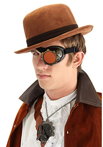 elope Antique Gold Steampunk Costume Accessory Goggle Eyepatch Monocle for Adults and Teens