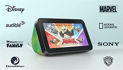 Introducing Echo Show 5 (2nd Gen) Kids   Designed for kids, with parental controls   Chameleon