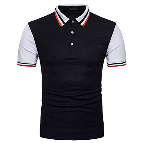 Willlly Polo Shirt mannen Colorblock Korte kleur Casual Sleeve Chic Bars Lapel Polo Shirt Zomer Casual Zacht en Ademend T-Shirt Tops