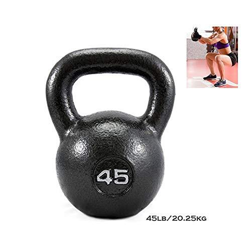Kettlebells AGYH Gusseisen, Schwarz Lifting Hanteln, Fitnessgeräte for Push-ups, Kniebeugen Und Gewichtheben, Einteiligen, 45lb / 20.25kg