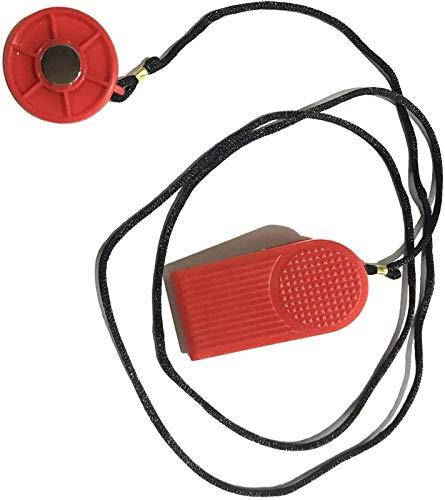 Laufband faltbar, Laufband Sicherheitsschlüssel Laufband Magnetische Sicherheit Runde Schalter Fitness rot nützlich neu BJY969