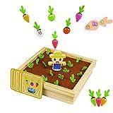 Juegos Montessori para Niños Juego de Memoria Juegos de Mesa Juguetes de Madera 2 in 1 Zanahoria Jug...