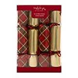 Hallmark 12 Simply for You Family Crackers, Traditional Gold & Tartan Design