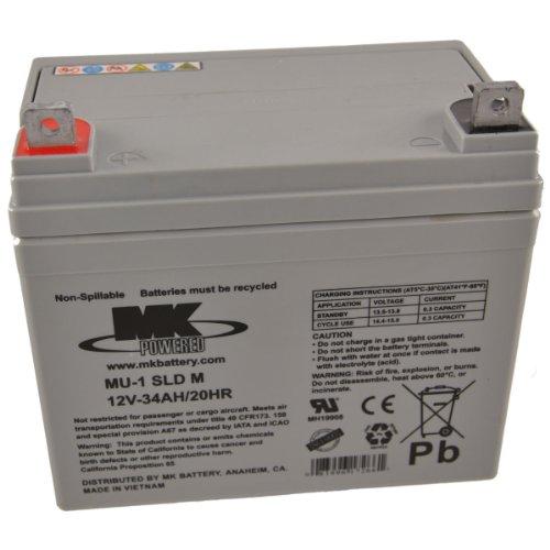 MK MU-1 SLD M-2 12V 35Ah Mk Sealed Lead Acid Agm Mobility Scooter Battery