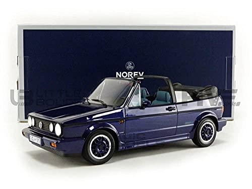 Norev Volkwagen Golf I Cabrio Coast Purple Blau Metallic 1979-1993 1/18 Modell Auto