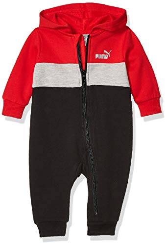 PUMA Baby Boys Fleece Coverall, High Risk, 0-3M