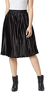 The Dry State Women Black Coloured Pleated Free Size Skirt G505