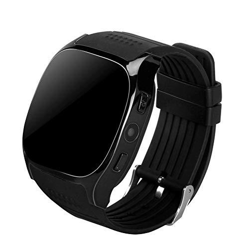 KDSFJIKUYB Smartwatch T8 Bluetooth Smart Watch-Unterstützung SIM TF-Karte mit Kamera-Sport-Armbanduhr-Musik-Player für Apple Android VS M26 DZ09 A1, Farbe als Bildershow