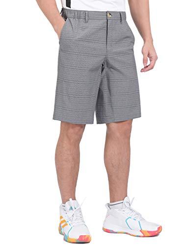 Little Donkey Andy Men's 12 Inch Bermuda Shorts, UPF 50 Stretch Golf Shorts for Casual Travel Gray XXL