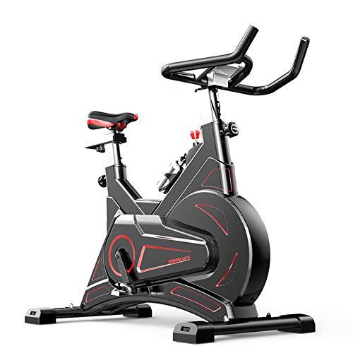 YXMG Heimtrainer Cardio Workout Indoor Spin Bike Studio Cycles Studiogeräte Einstellbare Lenker LED Länge Dauer Kalorien Sitz Magnetic Excersize Bike,Schwarz