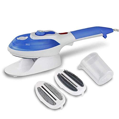 luoOnlineZoo Manual Prendas, Ropa Vaporizador, Viaje Eléctrico Plancha Vapor con Cepillo de Vapor - Azul