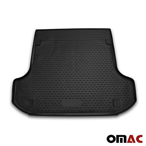OMAC GmbH Kofferraumwanne Antirutschmatte Gummi Allwetter schwarz fahrzeugspezifisch für Logan MCV 2 2013-2020