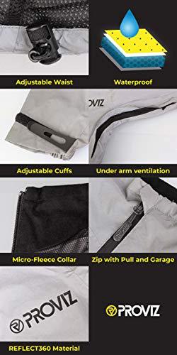 Proviz Women's Reflect 360 Outdoor Jacket-Silver/Black, Size 10