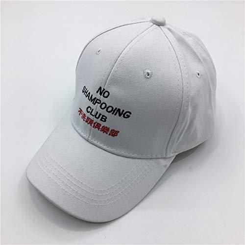 JXFM De persoonlijkheid van de hoed voor de lente en de zomer is geen shampoo baseballcap voor mannen en vrouwen