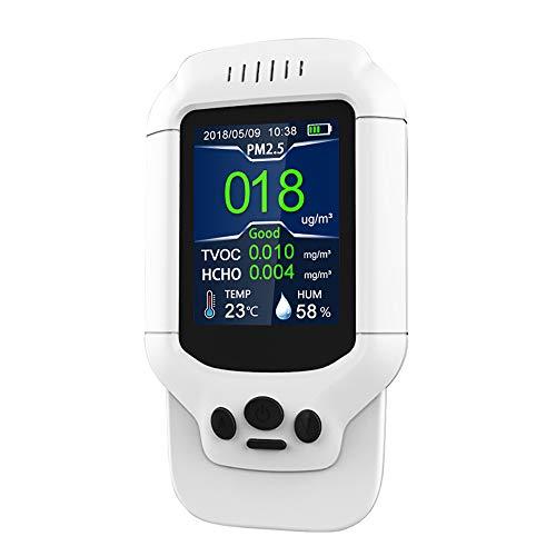 Yi-Achieve Durevole Pm2.5 Formaldeide Tester, Air Quality Monitor Ozono Portatile del Sensore del Rivelatore Meter Air Rilevatore Multi-Gas Formaldeide Tester...