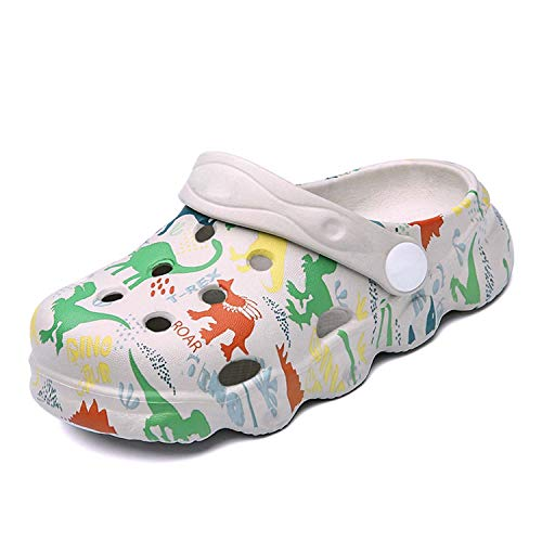 CERYTHRINA Kids Cute Clogs Cartoon Garden Shoes Boys Girls Slides Slippers Indoor Outdoor Children Water Shower Beach Pool Sandals Grey 150