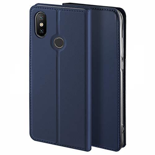HoneyHülle für Handyhülle Xiaomi MI Max 3 Hülle Premium Leder Flip Schutzhülle für Xiaomi MI Max 3 Tasche, Blau